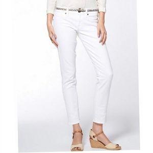 Lucky Brand white Sienna Tomboy Crop jeans